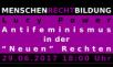 """Header MENSCHEN RECHT BILDUNG Antifeminismus in der """"Neuen"""" Rechten"""